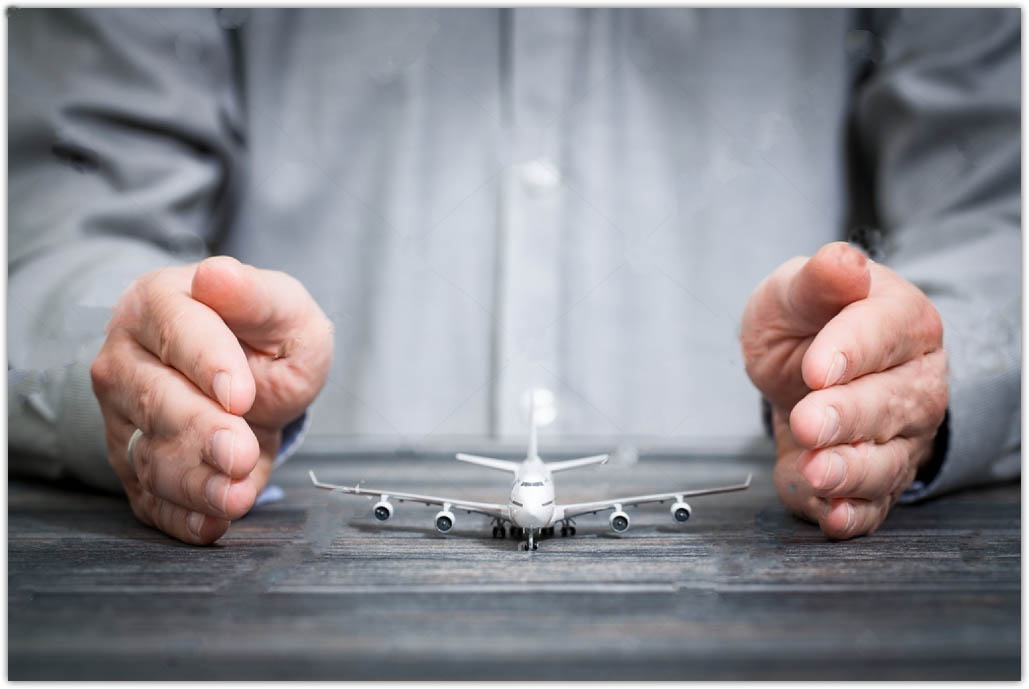 stock photo travel insurance airplane protection 648958069